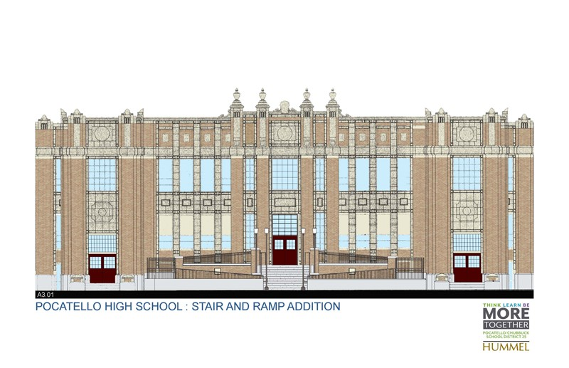 Imaged depicting a proposed front entrance design.