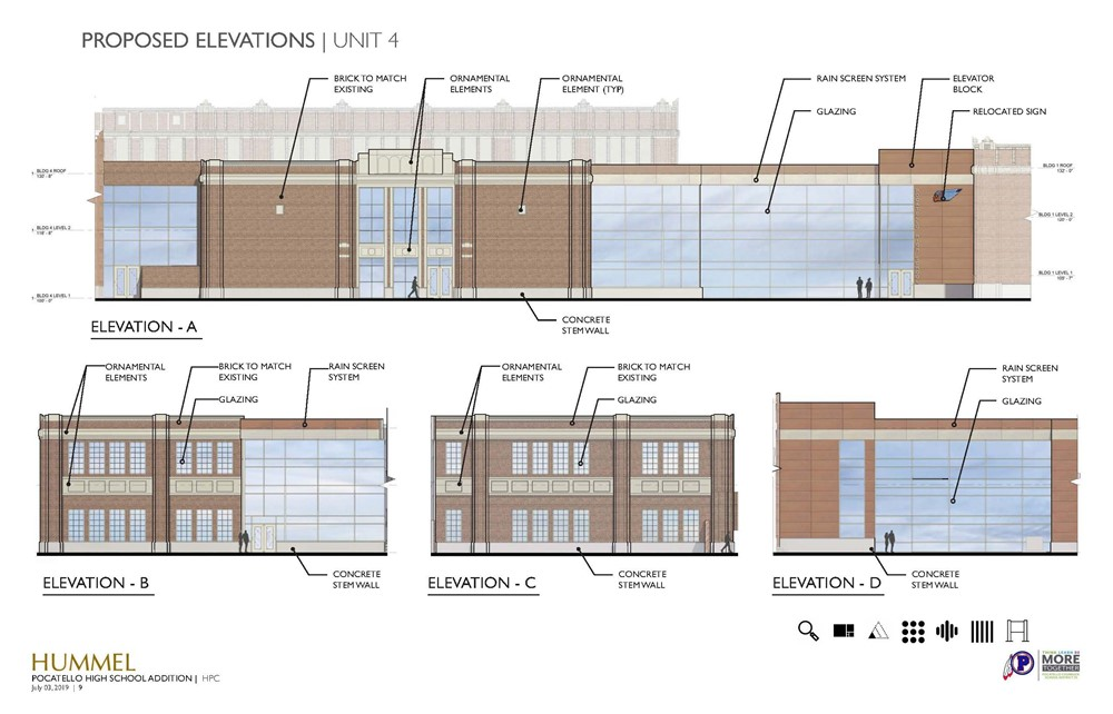 An image depicting the proposed design improvements for the PHS improvement project.