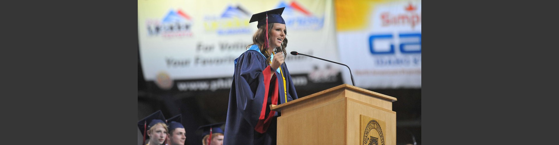 picture of speaker at pocatello high school graduation