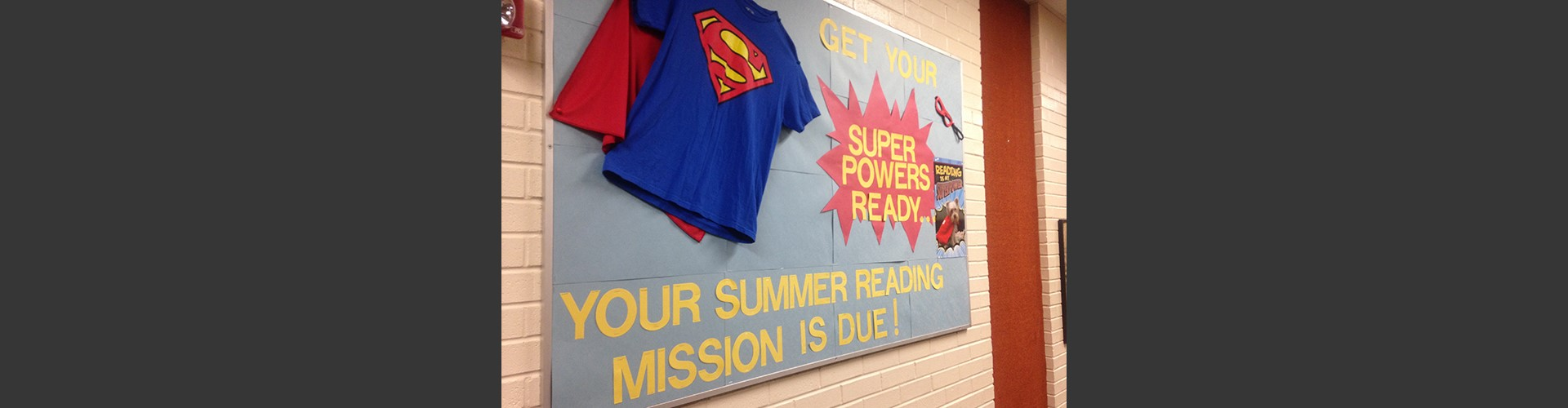 Display for summer reading mission.